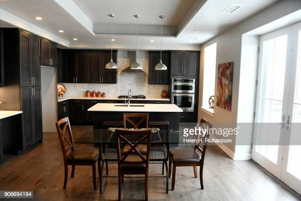 This is the kitchen of one of the new units available in the new Mirador at Tennyson condominium project inside the historic El Jebel Shrine building...