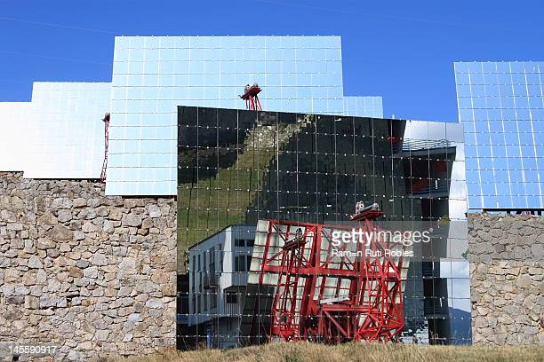 This is the largest solar furnace , built in 1970 and located in Odeillo in the Pyrénées-Orientales in France.It employs an array of plane mirrors to...