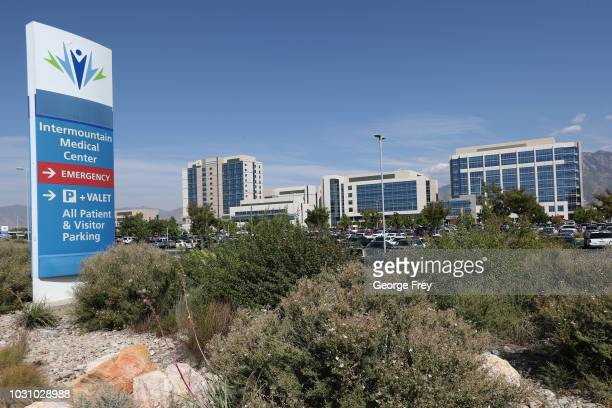This is the main campus of Intermountain Medical Center part of Intermountain Heathcare on September 10 2018 in Midvale Utah IHC along with other...