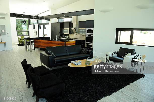 This is the main living room looking towards the kitchen This is the home of Cathleen Van Buskirk and her snazzy home at the Erie Air Park Her sleek...