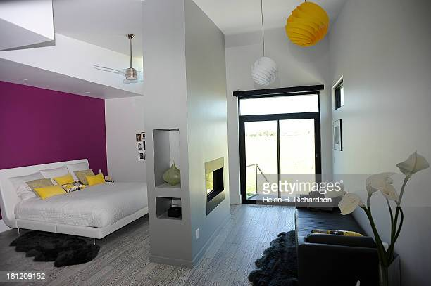 This is the master bedroom This is the home of Cathleen Van Buskirk and her snazzy home at the Erie Air Park Her sleek modern house is right by the...