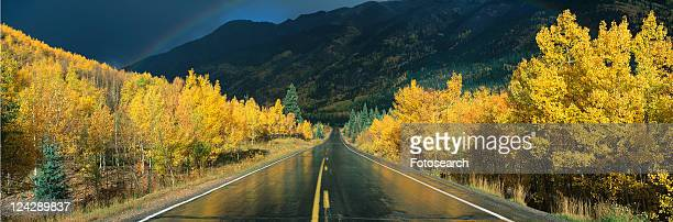 this is the million dollar highway in the rain - million dollar highway stock photos and pictures