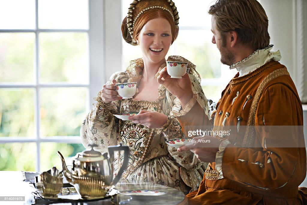 This is the most marvelous tea m'lady : Stock Photo