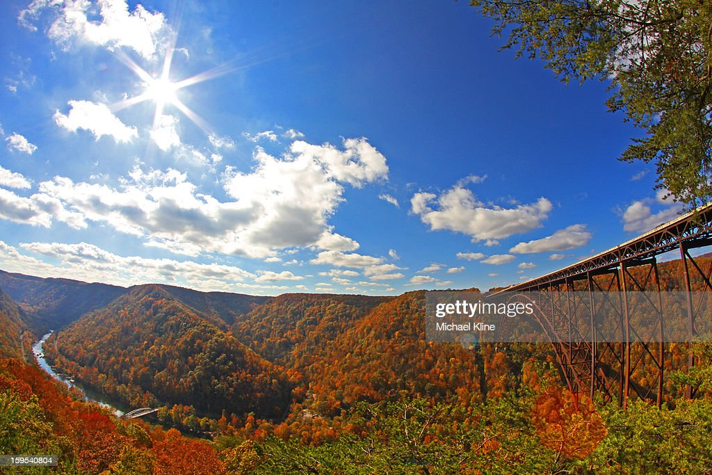 CONTENT] This is the New River Gorge in West Virginia, shot with a fisheye lens.