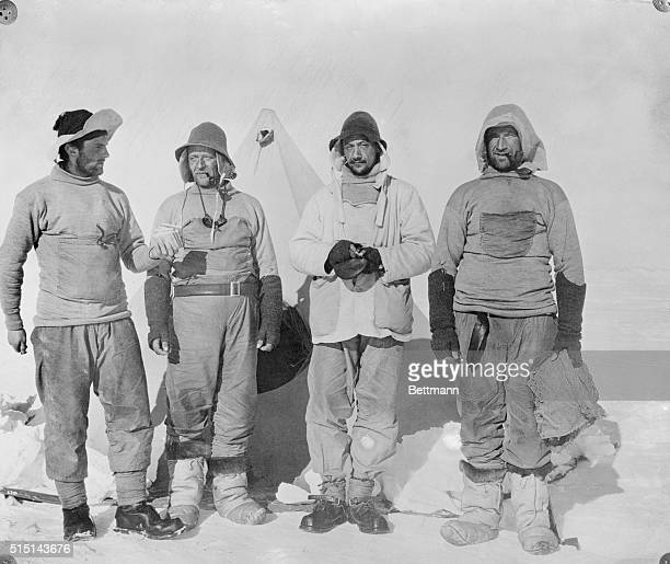 This is the rescue party which recovered the remains of Captain Robert Falcon Scott and companions who died returning from the South Pole TW Nelson...