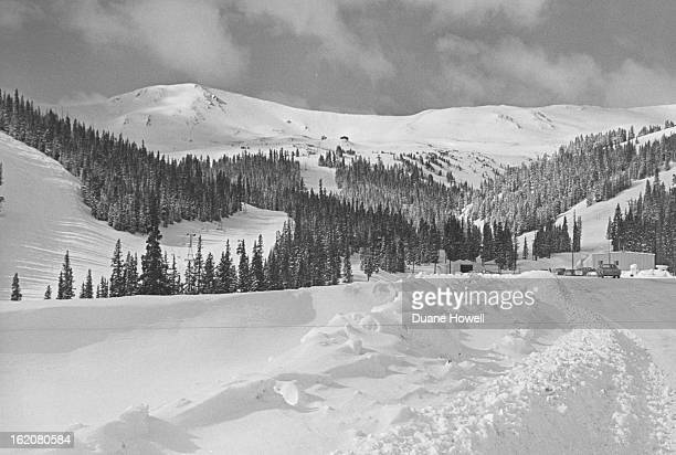 1968 MAR 15 1968 MAR 17 1968 This is the scene of con¼struction camp for the tun¼nel on east side of Continental Divide Blasting oré« west side began...