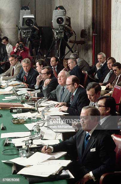 This is the Senate Select Committee on Watergate holding a hearing in the historic Caucus Room of the Old Senate Office Building From top to botttom...