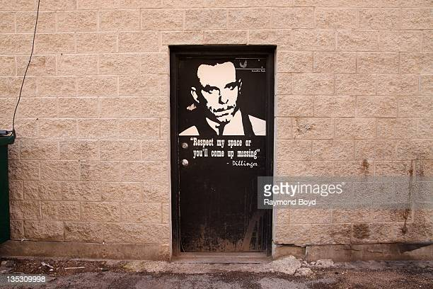 This is the spot in the alley behind the Biograph Theater where bank robber John Dillinger was murdered in Chicago Illinois on DECEMBER 02 2011