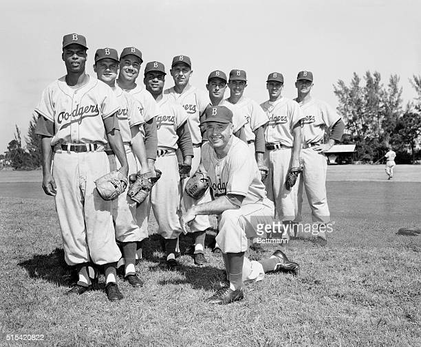 This is the starting lineup that will play the Red Sox Saturday night Left to right Charley Neal 2b Zimmer ss Duke Snider cf Roy Campanella c Gil...