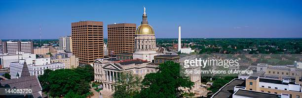 This is the State Capitol and skyline in daylight