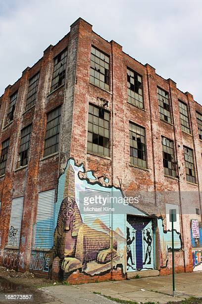 This is the street art that greets you as you enter the second block of Iron Street in Detroit. 40 artists have contributed to the mural that...