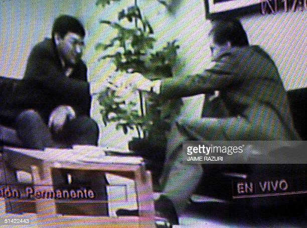 This is the video which the Perubian congresman is reciving bribe from unidentifed person in September 1998 Imagen de video difundida por el Congreso...