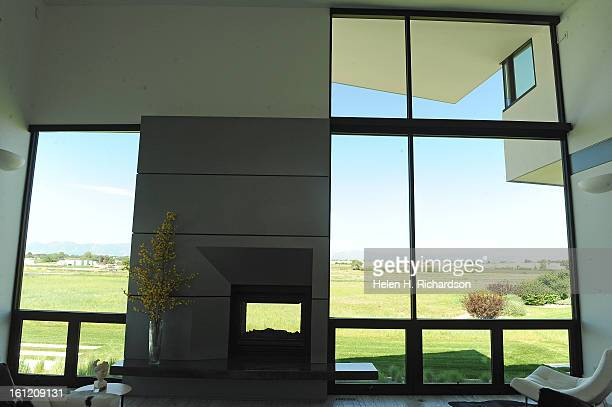 This is the view from the main living room looking out towards the runway This is the home of Cathleen Van Buskirk and her snazzy home at the Erie...