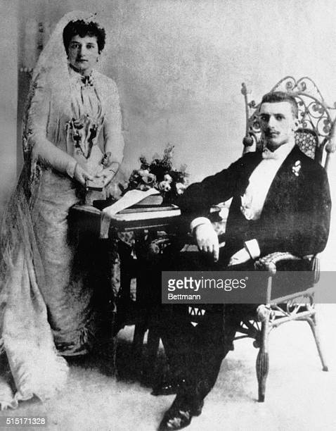 This is the wedding picture showing Miss Clorinda Cuneo and her groom, Amadeo P. Giannini. He founded the vast Transamerica Corporation now under...