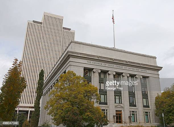 This is the World Headquarters of the Church of Jesus Christ of LatterDay Saints on November 6 2015 in Salt Lake City Utah On November 5 the Mormon...