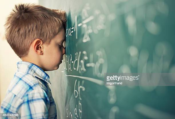 this is too hard - schoolboy stock pictures, royalty-free photos & images