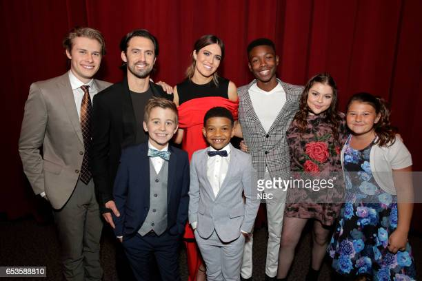 US 'This is Us' Finale Event at The DGA Los Angeles March 14 2017 Pictured Logan Stroyer Milo Ventimiglia Parker Bates Many Moore Lonnie Chavis Niles...