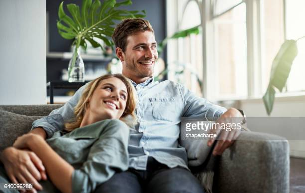 this is what a weekend should look like - young couple stock pictures, royalty-free photos & images