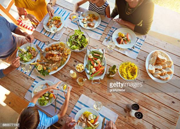 this is what family time is all about - picnic table stock pictures, royalty-free photos & images