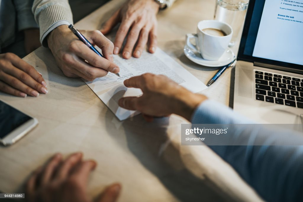 This is where you need to sign! : Stock Photo