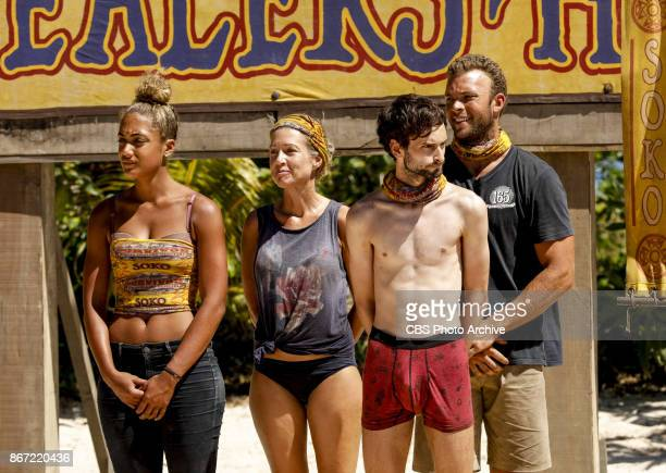 'This is Why You Play Survivor' Ali Elliott Chrissy Hofbeck Ryan Ulrich and John 'JP' Hilsabeck on the sixth episode of SURVIVOR 35 themed Heroes vs...