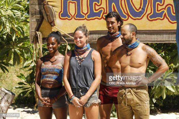 'This is Why You Play Survivor' Desiree Williams Ashley Nolan Devon Pinto and Joe Mena on the sixth episode of SURVIVOR 35 themed Heroes vs Healers...