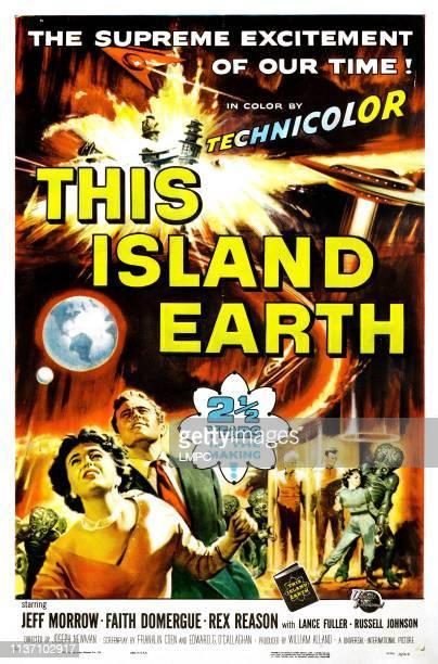 This Island Earth poster Faith Domergue Rex Reason Jeff Morrow 1955