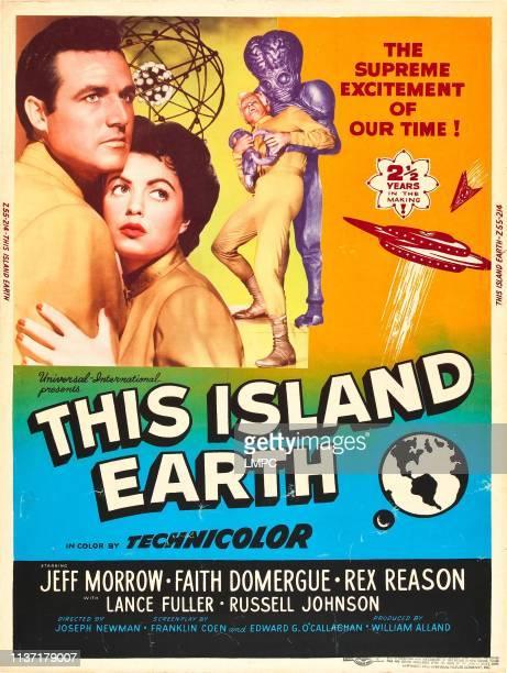 Rex Reason Faith Domergue Jeff Morrow on poster art 1955