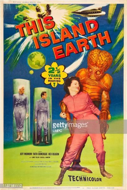 This Island Earth poster Jeff Morrow Rex Reason Faith Domergue 1955