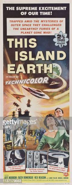 This Island Earth poster right from left Faith Domergue Rex Reason 1955