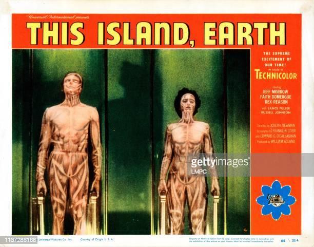This Island Earth poster US lobbycard from left Rex Reason Faith Domergue 1955