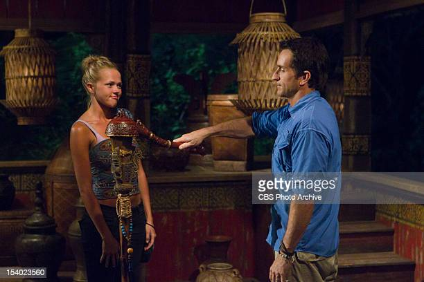 'This Isn't a 'We' Game' Jeff Probst announces that Angie Layton of the Matsing Tribe is evicted during Tribal Council on the third episode of...