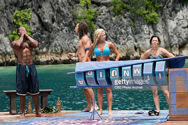 'This Isn't a 'We' Game' Russell Swan Malcolm Freberg Angie Layton and Denise Stapley of the Matsing Tribe feeling defeated after the Immunity...