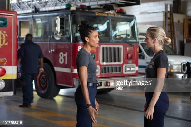 FIRE 'This Isn't Charity' Episode 704 Pictured Annie Ilonzeh as Emily Foster Kara Killmer as Sylvie Brett