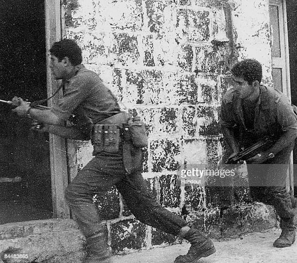 This Israeli Government Press Office file photo first made available on November 1, 1971 shows Benjamin Netanyahu during a training exercise as a...
