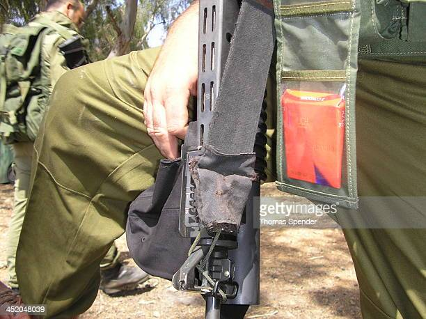 """This Israeli soldier at Metulla on the Lebanese border during the 2006 Hezbollah war said he carried condoms with him """"to stay safe"""" in combat."""