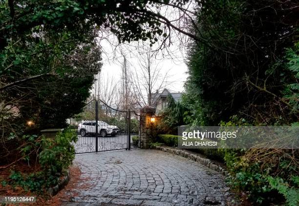 This January 20, 2020 photo shows the temporary North Saanich home of Prince Harry and his wife Meghan in Vancouver Island, British Columbia. -...