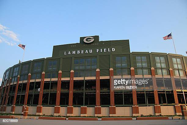 This July 26 2008 photo shows Lambeau Field home to the NFL's Green Bay Packers in Green Bay WI Quarterback Brett Favre has yet to report to training...