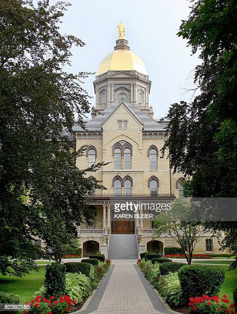 This July 31, 2008 photo show the Golden Dome atop the main building on the campus of Notre Dame University in Notre Dame, Indiana. The dome adorned...