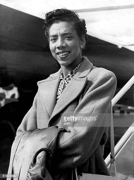 This June 1951 file picture shows US tennis player Althea Gibson According to reports Gibson the first black to play at US championships and the...