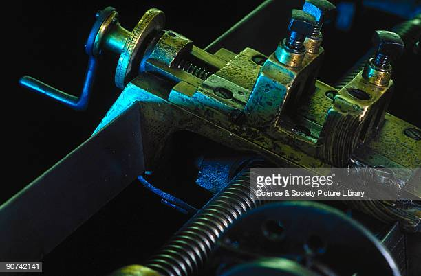 This lathe is said to be the first workshop machine on which English engineer Henry Maudslay combined a leadscrew and change wheels for reproducing...