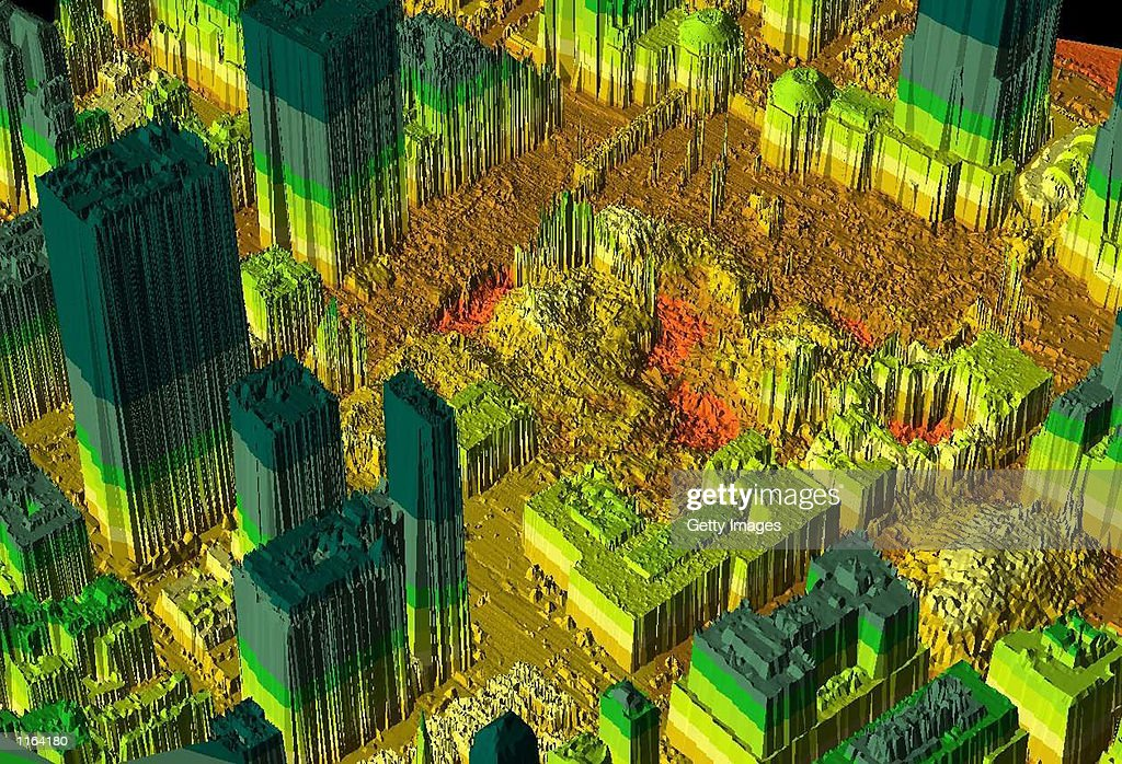 Thermal Imaging Of World Trade Center Site : ニュース写真