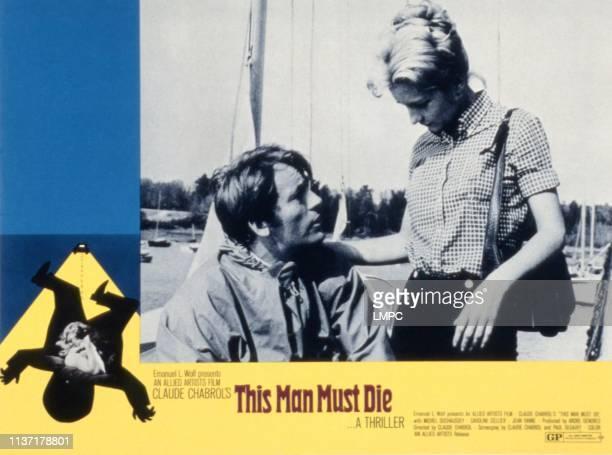 This Man Must Die lobbycard Michel Duchaussoy Caroline Cellier 1969