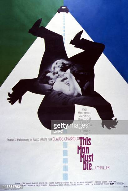 This Man Must Die poster US poster from left Michel Duchaussoy Caroline Cellier 1969