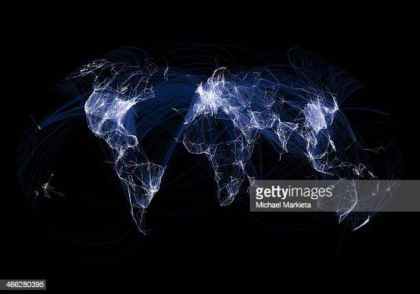This map represents over 58,000 flight routes that exist as part of the openflights.org database. As a global representation of flight routes, this...