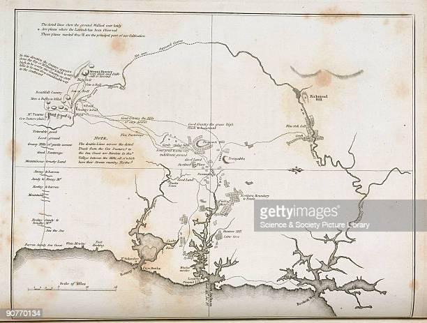 This map shows Botany Bay with Sydney and smaller settlements such as Bankstown Parramatta and Wooloomooloo all of which are now part of the modern...