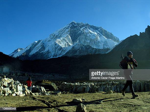 This Marathon is almost a descent from Kaala Patar to Namche Bazar but when the runners arrive at Lukla they have to go up to a Temple It's a...
