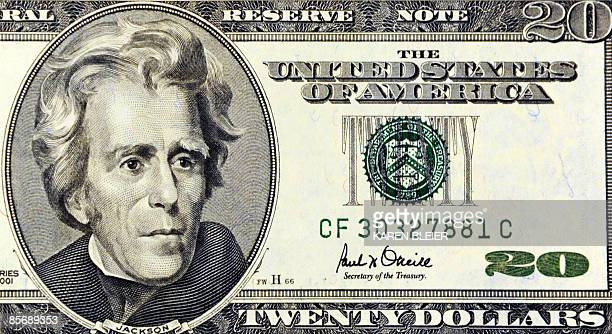 This March 29 2009 photo illustration shows Andrew Jackson on the front of the USD 20 note in Washington DC AFP PHOTO/Karen BLEIER