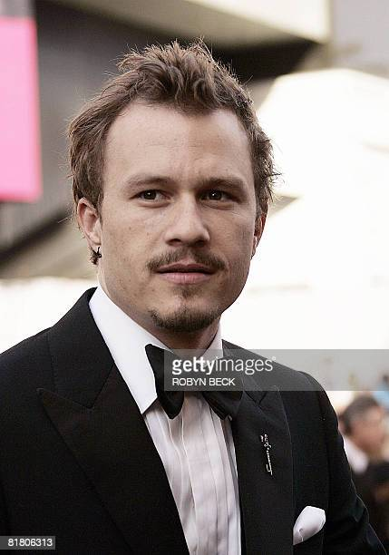 This March 5, 2006 file photo shows Australian actor Heath Ledger arriving for the 78th Academy Awards at the Kodak Theater in Hollywood. The Oscars...