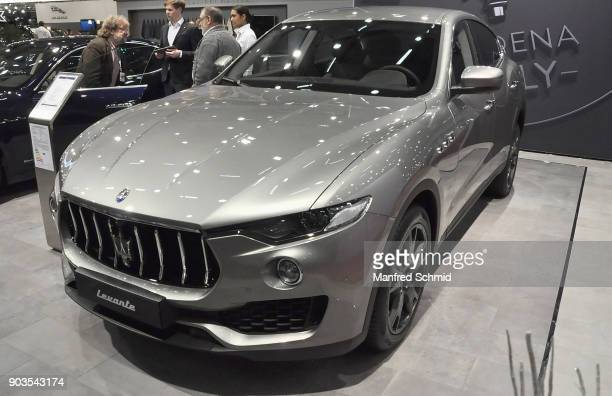 This Maserati Levante is displayed during the Vienna Autoshow as part of Vienna Holiday Fair on January 10 2018 in Vienna Austria The Vienna Autoshow...